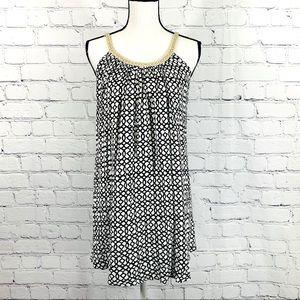 Nina Leonard Geometric Swing Dress Sz. S